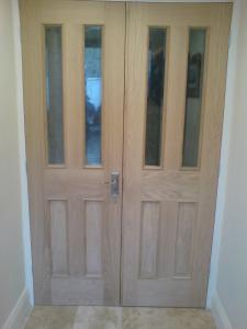 Oak double doors