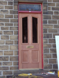 Purpose made hardwood door