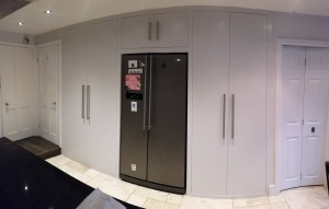 Flush and modern storage and access to cellar.
