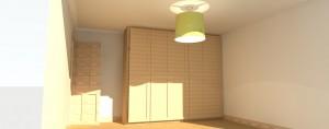 Oak veneered Bedroom wardrobes. Have been made.